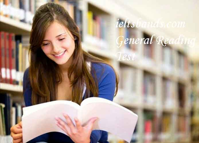 IELTS GENERAL READING TEST EXERCISE 4