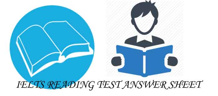 IELTS READING TEST ANSWER SHEET