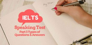 IELTS SPEAKING TEST PART 3