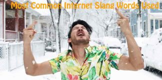 Most Common Internet Slang Words Used