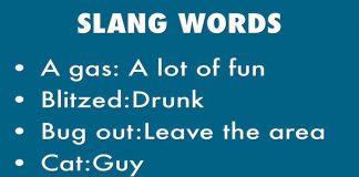 ONLINE SLANG WORDS VOCABULARY LIST