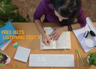 IELTS LISTENING EXAMS TEST EXERCISE ONLINE 9
