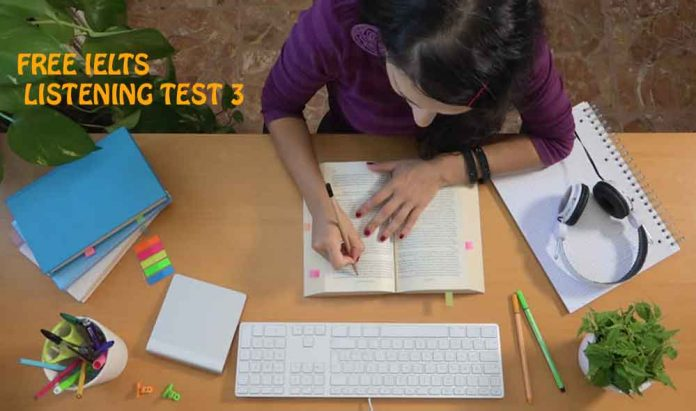 IELTS Listening Exams Online Test 3