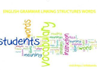 ENGLISH GRAMMAR LINKING STRUCTURES WORDS