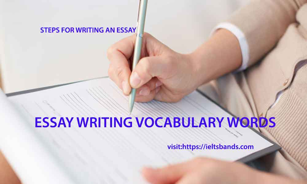 essay writing vocabulary words how to write an essay in ielts exams