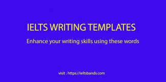 IELTS WRITING TEMPLATES WORDS