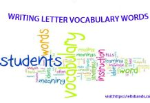 LETTER WRITING VOCABULARY WORDS