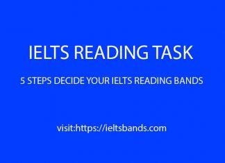 IELTS READING TASK FIVE STEPS DECIDE BANDS