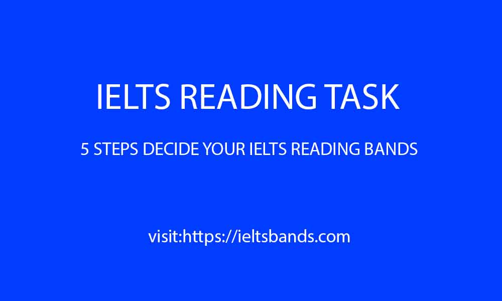 IELTS READING TASK FIVE STEPS DECIDE BANDS