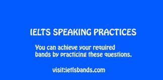 IELTS SPEAKING PRACTICES