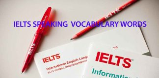 Ielts Speaking Vocabulary Words