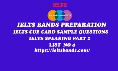 IELTS EXAMS SPEAKING PART 2 IELTS CUE CARD TASK