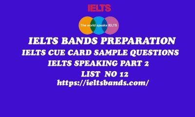 IELTS SPEAKING PART 2 QUESTIONS SERIES IELTS CUE CARD TASK