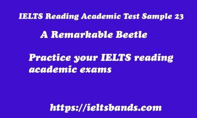 Ielts Reading Academic Test Sample 23