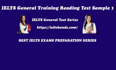 IELTS GENERAL TRAINING READING TEST SAMPLE 1
