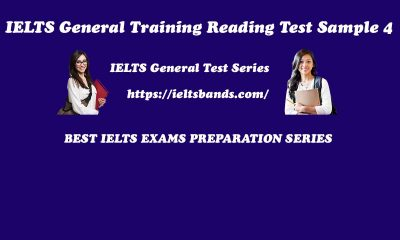 IELTS General Training Reading Test Sample 4