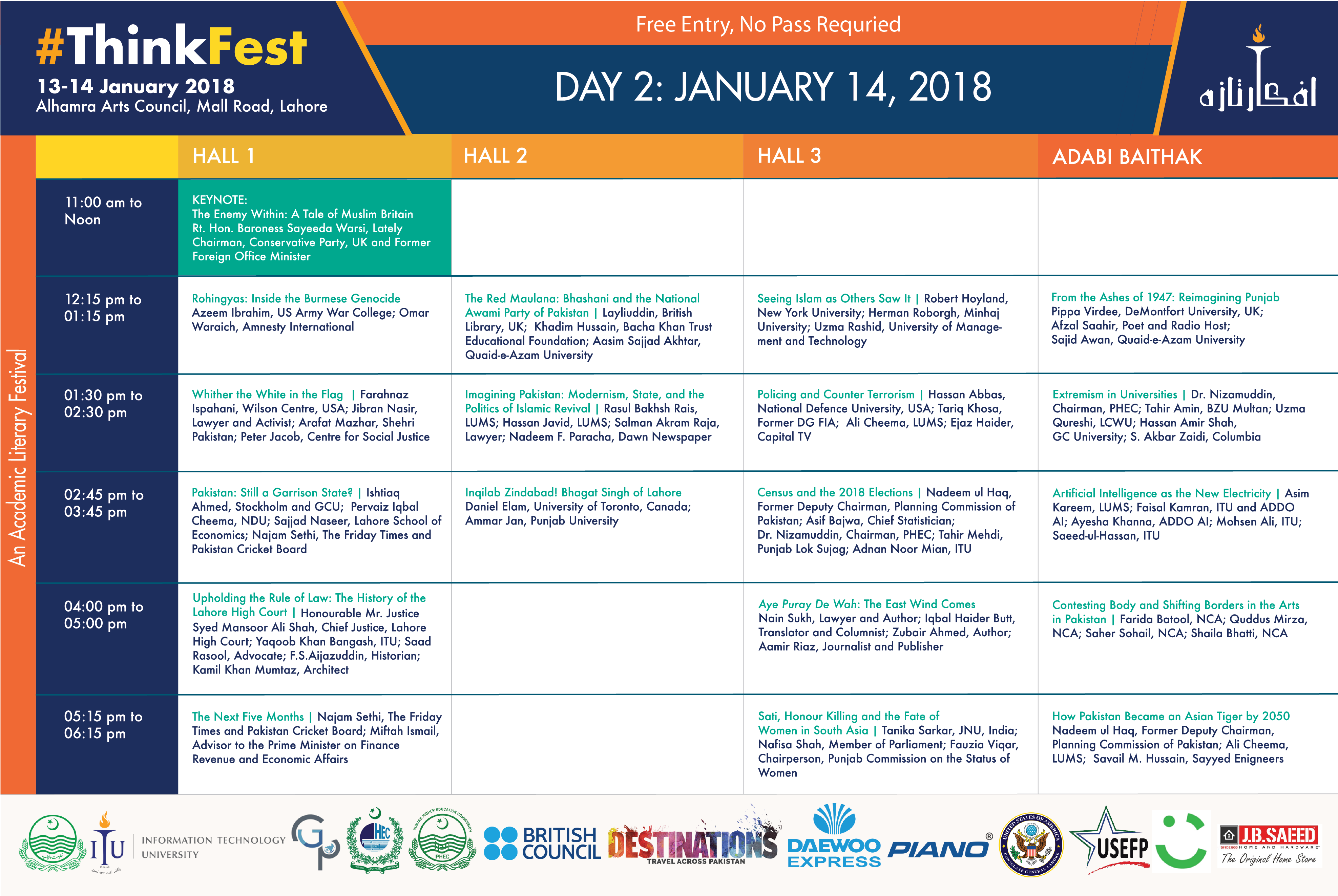 thinkfest day 2 schedule