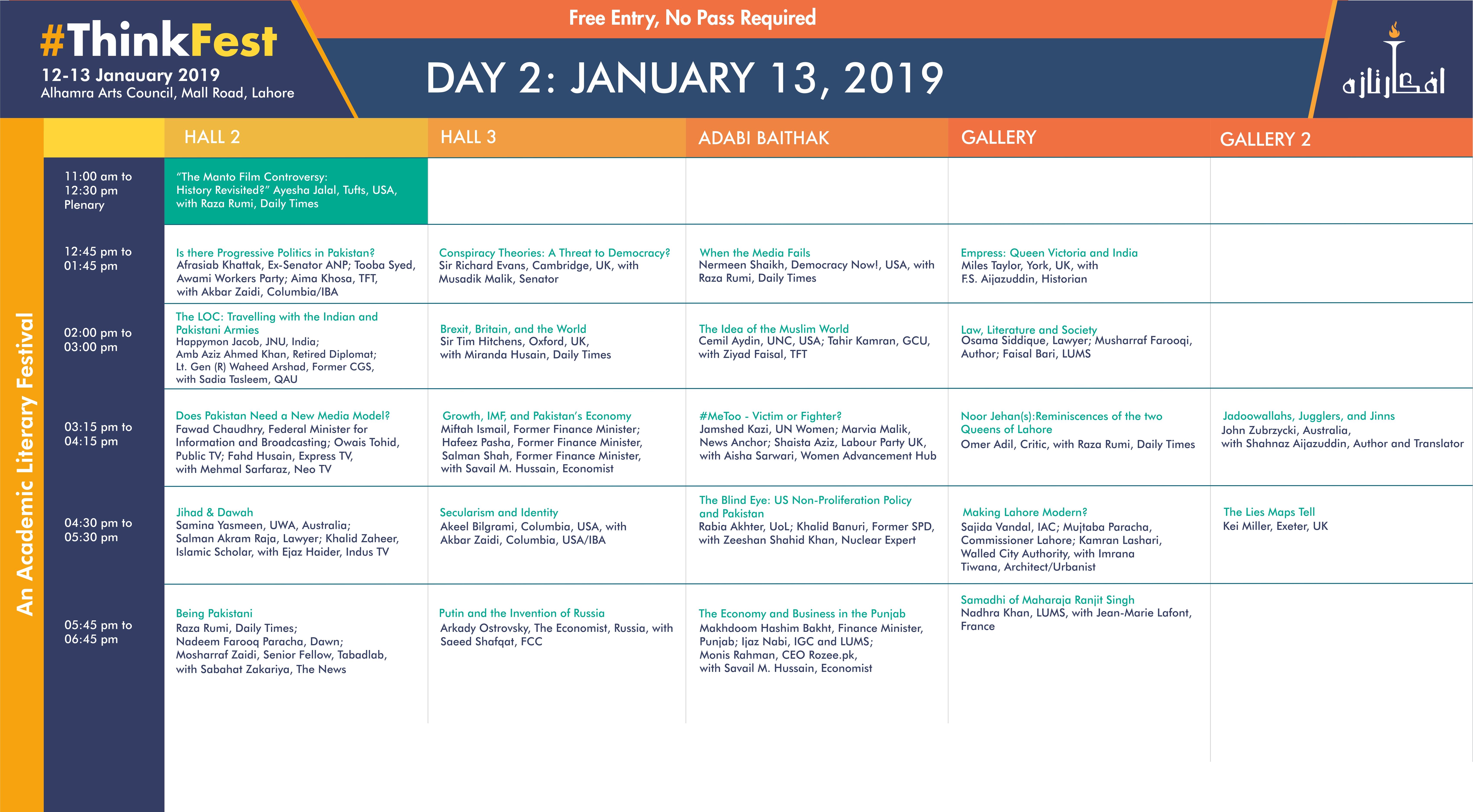 thinkfest day 2 schedule